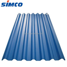 Plain roof tiles type corrugated color galvanized color steel roof sheet