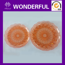 High quality reusable round plastic serving tray