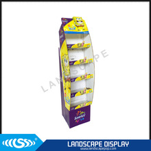 Custom made cardboard candy display stand / corrugated floor candy shelf / paper sweets display