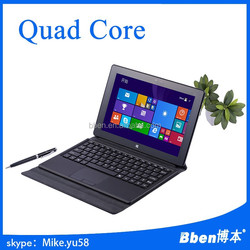 high quality low price brand new 10 inch windows8 Intel tablet pc laptop with detachable keyboard