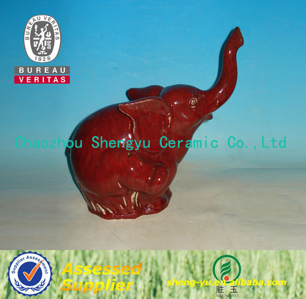 2014 handicraft garden antique ceramic elephant