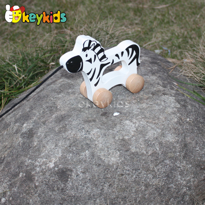 2016 wholesale baby wooden moving animal toy, funny kids wooden moving animal toy, wooden moving animal toy W05B141