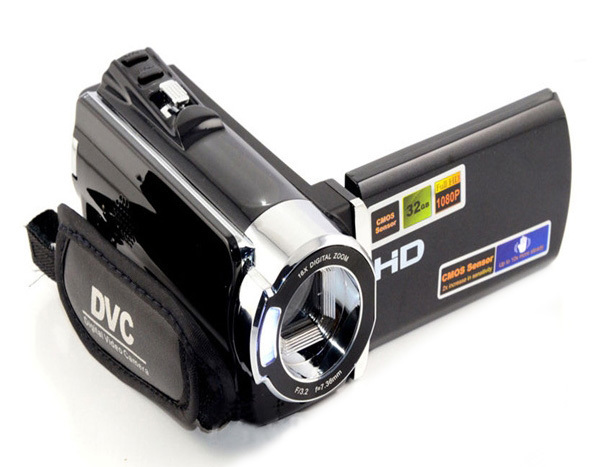 16MP HD 1080P Digital Video With 16x Zoom digital Camera +270 Rotation 2.7 inch screen portable DV(HD-666V4B))
