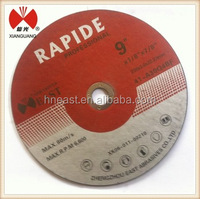9'' India BF hot selling cutting disks for SS ,metal,stone