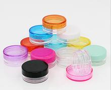 3g color customizable mini size cosmetic cheap ps clear plastic square jar