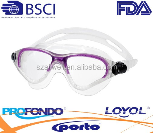 Adult liquid silicone swim goggle with quick adjust system