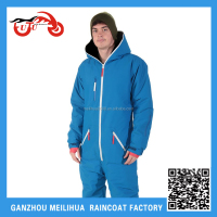 2015 Hot Sale Fleece Lined Waterproof Breathable One Piece Snow Ski Suits for Men