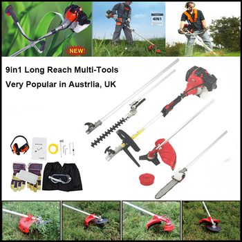 5 in 1 Pole Chainsaw Brush Cutter Whipper Snipper Hedge Trimmer Saw Pruner