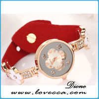 leather wristwatch with pendant fashion vogue ladies watch cord bracelet watch