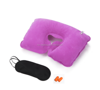 New promotional Travel Set with Points for sleep, inflatable pillow on the neck