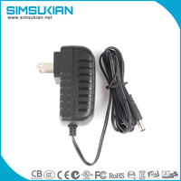 DC 5.5mm x 2.1mm Power Jack Adapter Plug MALE cable for LED Strip Light, CCTV Security Camera