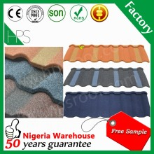 Free sample long span Asian style sand coated metal roofing tiles Korean roof tiles