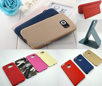 hot press leather case for Samsung S6 super thin