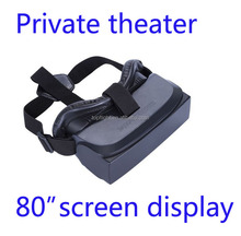 Virtual Reality 3D Glasses 80 inches Display 3D Game Movie VR Headset Mobile Theater VR Box