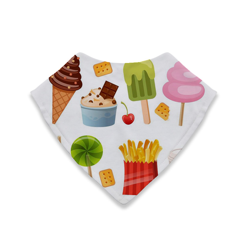 Hot Products affordable prices cotton 2 button snap Snacks summary baby bandana drool bibs