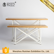 wood hot sale garment display table for retail store