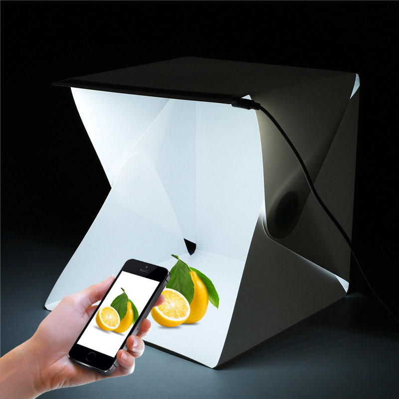 Hot Sale Mini Portable LED Folding lightbox Photography Photo Studio