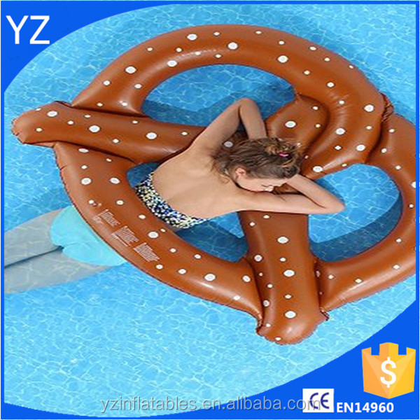 2016 Swim Ring inflatable donut pool float adult pretzel pool floats