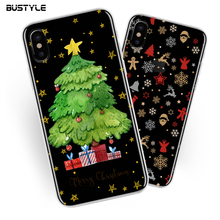 Custom Christmas Design Printed Mobile Cell Phone Cover For iPhone X Case TPU