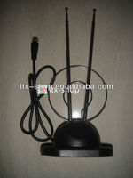 simple design 360 degree rotation rod indoor tv antenna