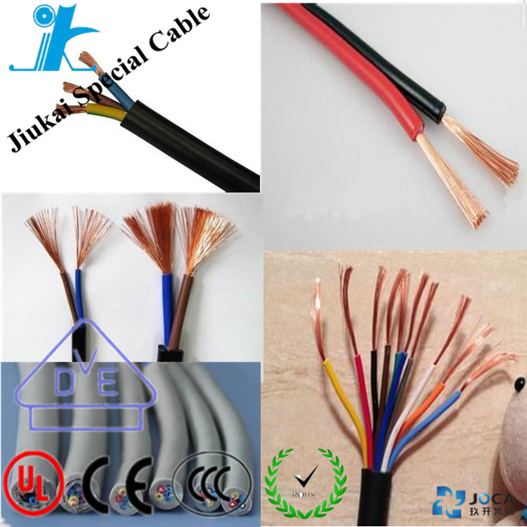 Free sample BVR flexible twin & earth cable wire Copper conductor PVC insulated 300/500V