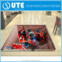 2015 Hot sale adhesive custom 3d floor sticker/3D vinyl sticker