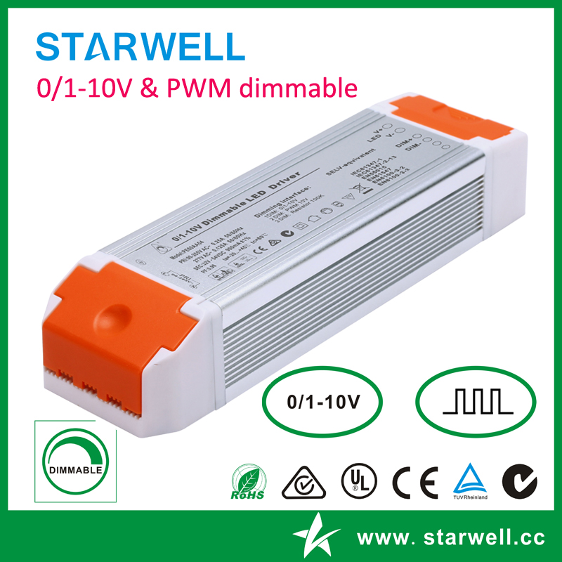 PE80AA 80W constant current 0-10V dimmable led driver