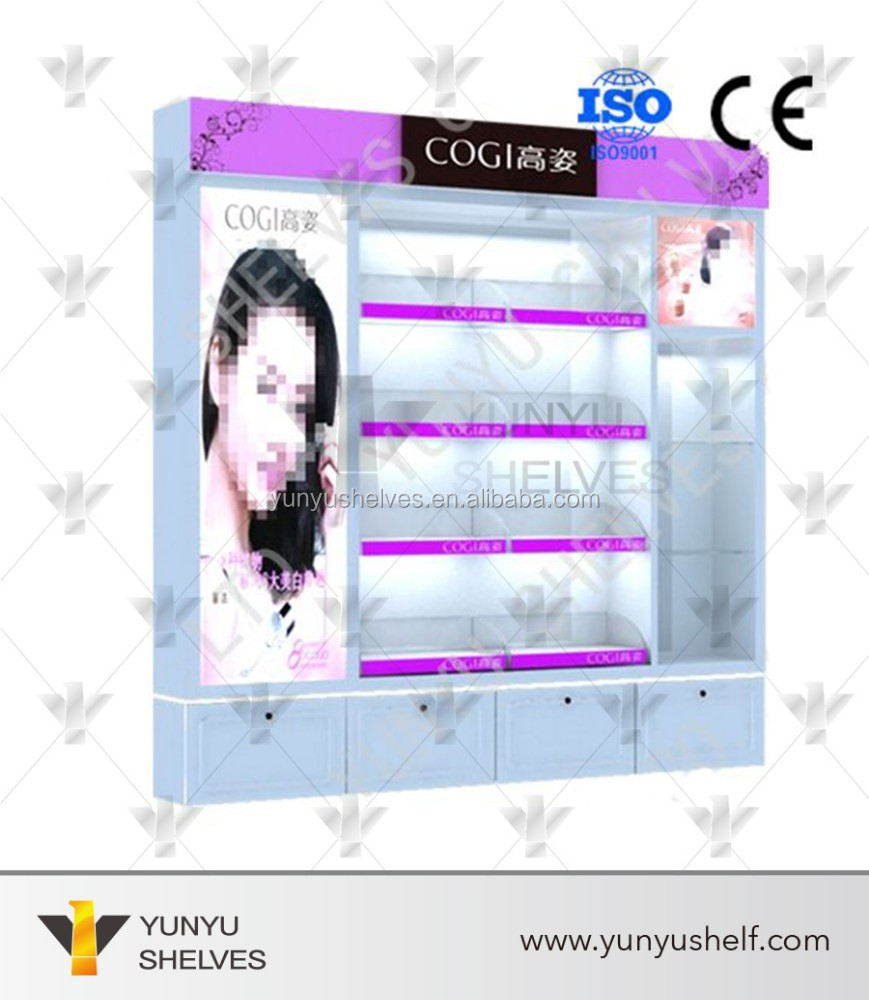 Best selling cosmetic retail beauty product display stands furniture
