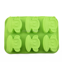 Silicone Six cups mold Finn cup Silicone Manufacturer sales Six monkey face molds silicone