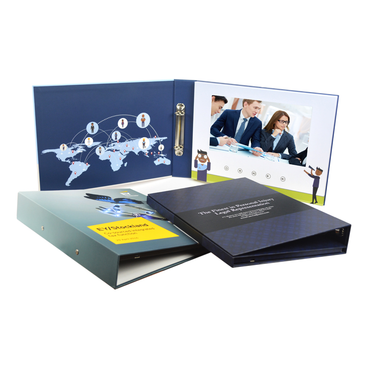 Customized corporate creative 2.4 4.3 7 inch lcd display a4 video brochure a5 digital greeting card for brand business marketing