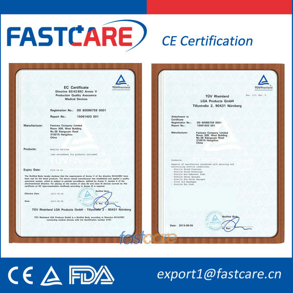 CE Waterproof First Aid Adhesive Wound Plaster