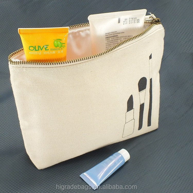 fashion style travel canvas cosmetic bag