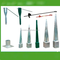 OEM metal post holders with fixing set