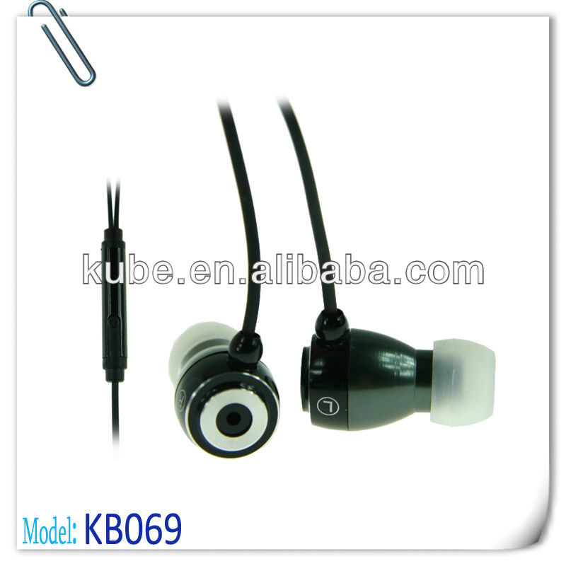 Ear Canal Earbuds iPod & MP3 Earphone Metallic