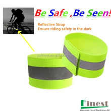 Be safe Be seen Reflective Elastic Leg Strap with Hook Loop fastener