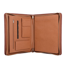 Factory multi-function A4 wholesale pu leather padfolio