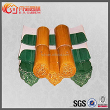 Chinese ancient pavilion green roof tiles cool roof requirements