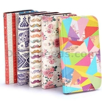 Lichee Pattern Wallet Style Stand PC+PU Leather Cases for Samsung Galaxy S4