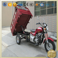 Shaft Drive 5 Speed Dry Weight 320 kg Steel Plate Three Wheel Motorcycle for Cargo Brand OEM Drum Disc Brake Electrical Kick