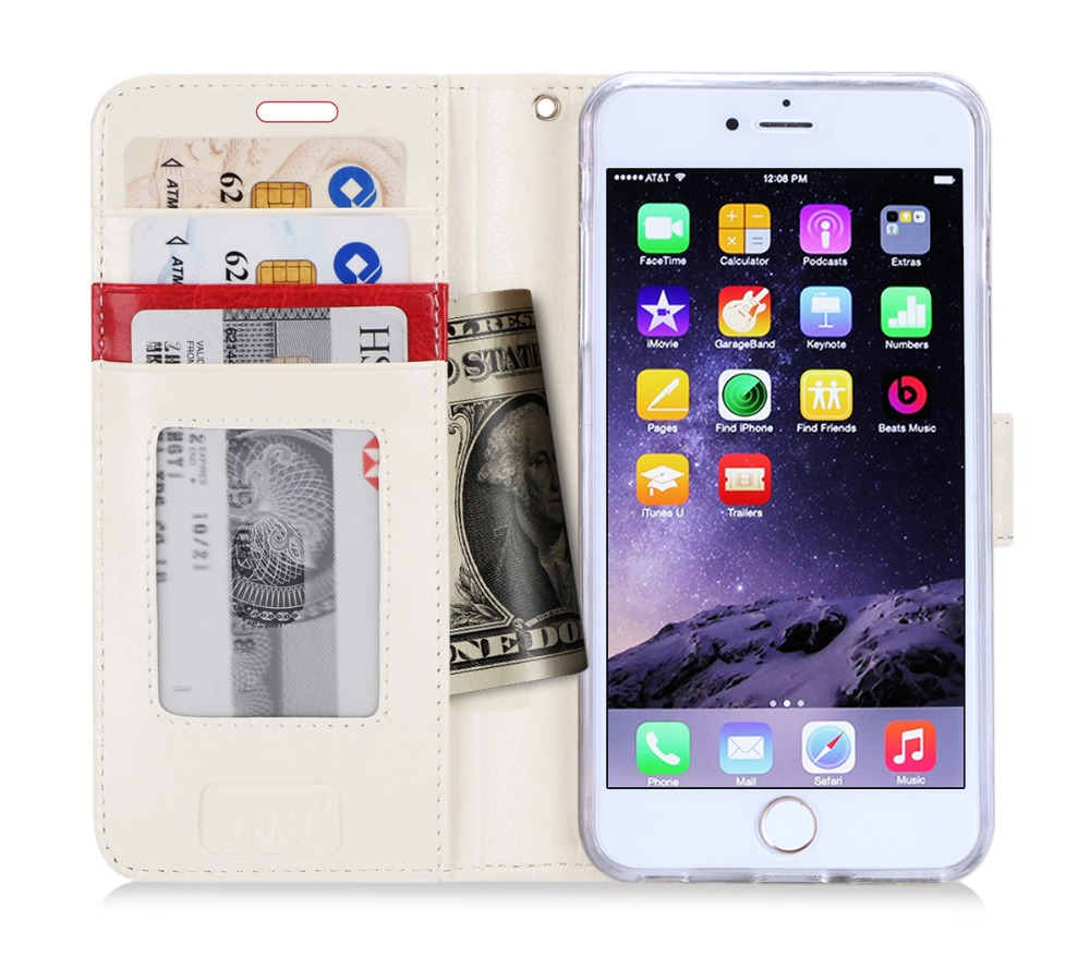 Hot Selling Wallet Style Flip Case Sublimation Printing PU Mobile Phone Case For iPhone 6s Plus