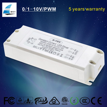 Plastic housing 12W 350mA 24-34V DC pwm dimmable led driver for cob led