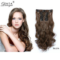Full Head Clip in Ombre Color Synthetic Protein Toyokalon Fiber Hair Extension