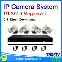 2015 New ip camera system dome camera plus 4 ch NVR,cctv camera pole,ip video door phone
