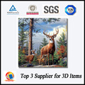 Elk nature wall hanging deep 3D lenticular frameless picture