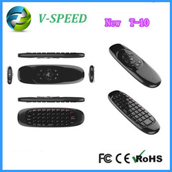 Vspeed 2.4GHz Wireless factory direct selling-2.4g remote controller android tv box T-10