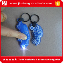 LED pvc Flashlights keychain,Led keychain light,Promotional LED pvc keychain