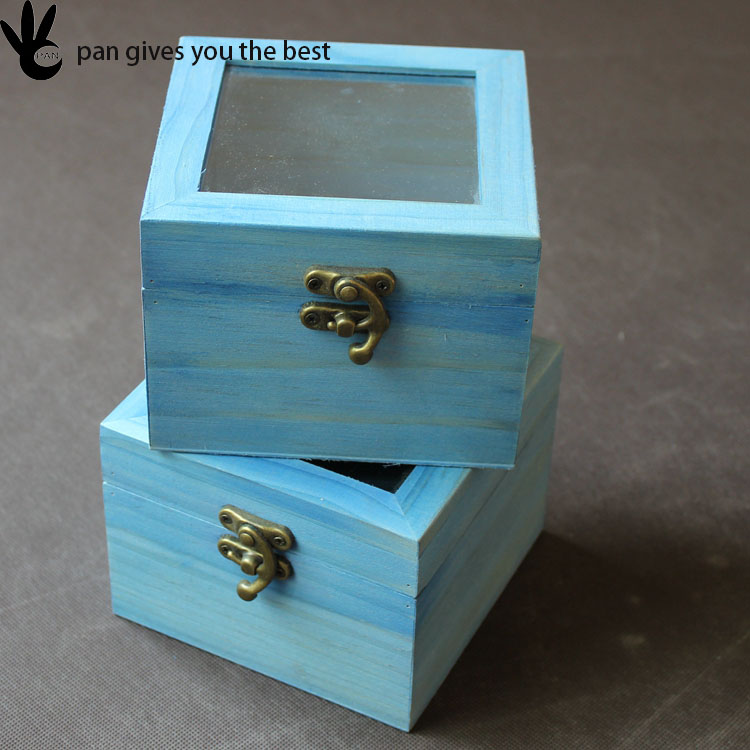 High quality custom fancy gift wooden jewelry samll storage box with lid