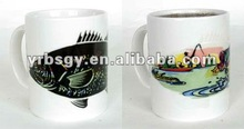 Make Custom Brass Fishing Ceramic Mug,Color Changing Mug