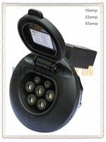 Uchen factory provide dostar locking female iec 62196-2 EV socket outlet