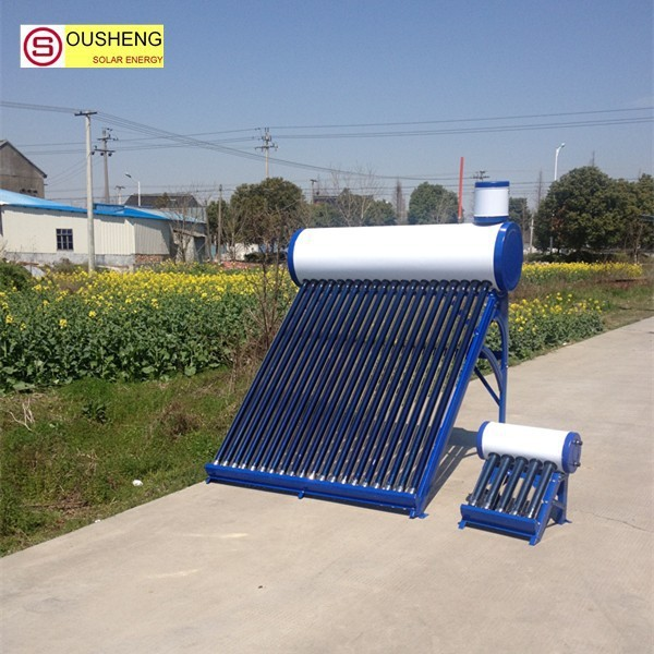 China high quality compact non-pressurized solar panel hot water